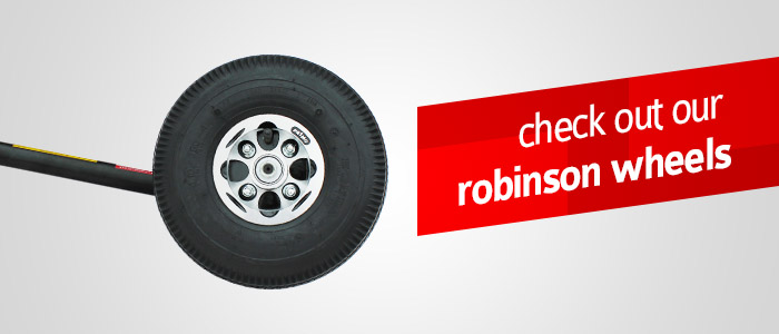 Ground Handling wheels for Robinsons!