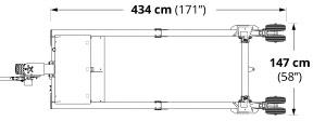 Carrier V1020 dimensions